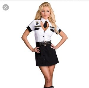 Sexy strip search officer costume